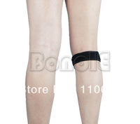 Promotion! Black Knee Pad Belt Patella Tendon Knee Support Strap Belt TK0810