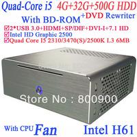 Alluminum mini pc mit USB 3.0 hdmi with Intel Quad Core i5 2310 2.9Ghz 3470 3.2Ghz 2500K 3.3Ghz 3470S 3.2Ghz windows 7 64 BIT