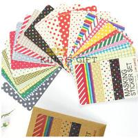 27pcs/ Set  Wholesale Stationery Colorful DIY Masking  Sticker Set Masking Lable Scrapbook Sticker Free Shipping
