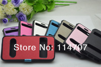 10pc/lot New Business style colorful luxury Cross Easy Answer See Caller ID Window TPU Flip Case for Iphone 5 5s Free Shipping