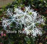 Manufacturers selling christmas snowflake Christmas tree ornaments Christmas hanging 9pieces 22cm