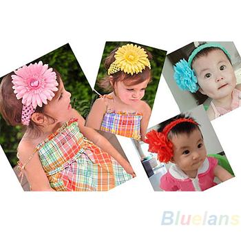 "12pcs  Cute 1.5"" Crochet Headbands Hair Head Band Bow Kid Baby Girl Accessories  016L"