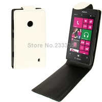 1pcs Hot Sale Crazy Horse Texture Vertical Flip Leather Case for Nokia Lumia 520 (White)