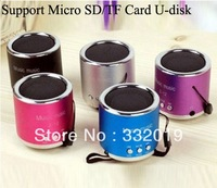 Freeshipping Mini Speaker Z-12 portable speakers support Micro SD/TF Card U-disk with FM function