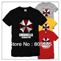 Free shipping lover Umbrella Corporation Corp Logo tops BIOHAZARD  printed Resident Evil t-shirt cotton short sleeve shirts