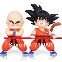 Drop Free Shipping,Dragon Ball Z Monkey King/Lovely Baldheaded Kobayashi,PVC Action Figures For Kid's Gifts,2PCS/LOT
