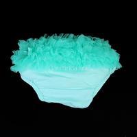 Free Shipping Aqua Baby Girl Ruffle Panties Bloomers Diaper Cover S