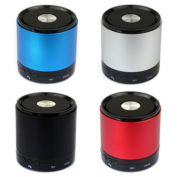 New Arrival Hot Sales  Portable 3W Wireless Bluetooth HiFi Bass Stereo Metal Handsfree Mic Speaker Free shipping &wholesale
