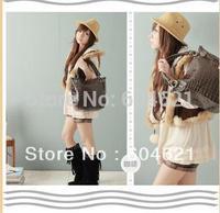 Free Shipping! Hot Fashion New 1Pcs 3 Colors Women Lady PU Leather Handbags Totes Shoulder Bag