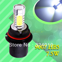 2pcs 9007 HB5 High Power 7.5W 5LED Pure White Head Tail Fog Driving Car Light Bulb Lamp