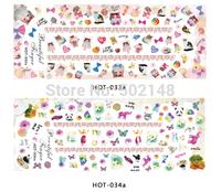 2013 newest custom water transfer nail art sticker