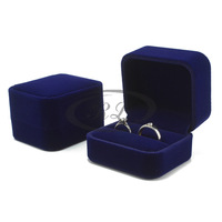 Wedding ring box senior lovers diamond velvet ring box ring box classic navy blue