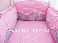 Piece set 100% cotton embroidered Baby Crib Bedding Set 100% cotton crib kit unpick and wash
