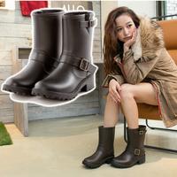 Winter popular jelly waterproof horse boots rainboots medium-leg martin boots fashion