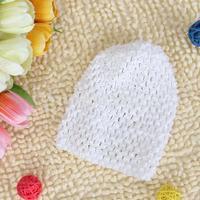 Free Shipping Versatile Crochet Beanie Hat Cap for Baby Infant Girl - White