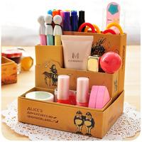 Free shipment Hearts . diy desktop storage box paper cosmetics finishing box