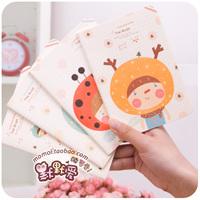 Free shipment Hearts . korea stationery heads notepad diary notebook