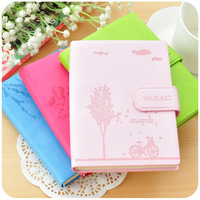 Free shipment Hearts . korea stationery small fresh leather notebook cute diary tsmip