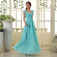 2013 bride V-neck slit neckline formal dress evening dress evening dress customize a017