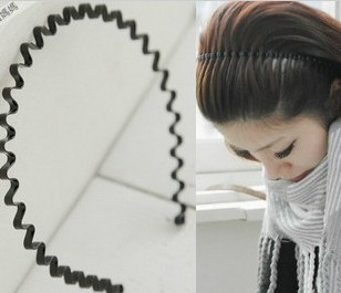 Min.order is $10 (mix order)Unisex wavy hair hoop headband hair band
