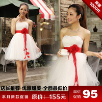 Tube top lacing dress the bride wedding dinner evening dress d002