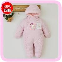 Winter thickening baby cotton romper baby romper children's jumpsuit clothing newborn wadded jacket