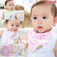 Retail 2014 Spring Fashion Baby Kids Toddler Bandana Bibs Cotton Baby Reversible Bibs Children Accessories Free Shipping