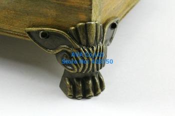 4 Pieces Antique Brass Jewelry Box Feet Animal Box Leg 47x39mm