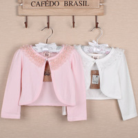 2 children's clothing female child autumn 2013 child long-sleeve small cardigan baby air conditioning cape waistcoat