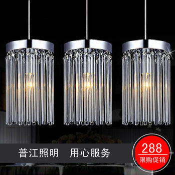 Chinese style fashion crystal lamp pendant light brief glass line lamp antique small pendant light wrought iron