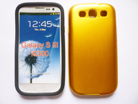 Top Quality Metal Phone Case for samsung galaxy s3 i9300 Aluminum+silicone Hard Case 11 colors free shipping