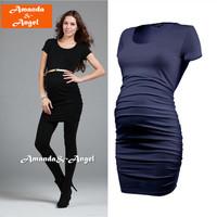 2013 New Fashion Ladies' maternity clothing fashion O neck Short sleeve maternity tops Pregnant women bottoming shirt