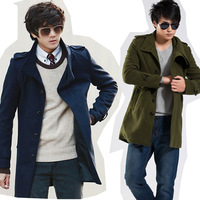 Free shipping the new men's in the fall and winter coat fashion coat coat collar men hit men coat of men's jacket