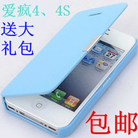 For apple   4 iphone4 phone case mobile phone case leather case  for apple   4s mobile phone case