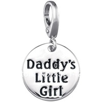 Free Shipping Romantic Silver plated Equisite Daddy's Little girl with lobster clasp daughter's gift Charms 12pcs a lot