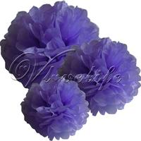 "Free shipping 10pcs 38cm 15"" Lavender Lilac Tissue Paper Pom Poms Wedding Birthday Party Home Decor Craft Favors"
