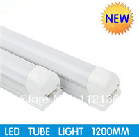 Wholesale 18W T8 led integration tube light +milky pc cover tube and lamp holder 1.2m 1200mm 120cm 85V-265V input(20pcs/lot)