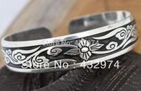 Hot Sell! New Tibetan Tibet Silver Totem Bangle Cuff Bracelet 03