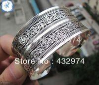 beautiful New Tibetan Tibet Silver Totem Bangle Cuff Bracelet