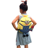 Free shipping children creative cartoon backpacks Despicable Me knapsack school shoulder bag plush toy birthday kids gift 1 pc