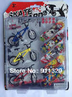 Children toy bike models alloy finger bike Creative Toy finger skateboard Best Selling Free Shipping