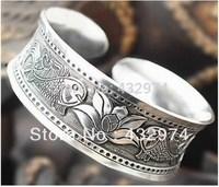 Fancy Tibetan Tibet Silver Totem Bangle Cuff Braceleta  45Hot Sell! New Tibetan Tibet Silver Totem Bangle Cuff Bracelet 01