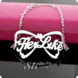 Free shipping silver personalized nameplate bracelet with name plate-custom by any name