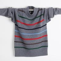 Teenage 2013 winter clothing male child o-neck child sweater plus size thick o-neck
