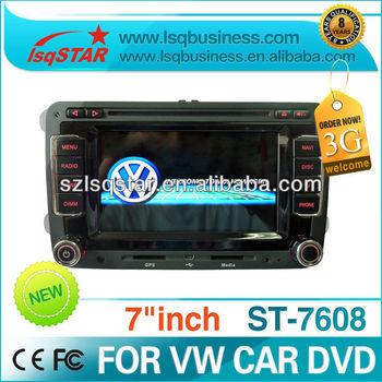 Wholesale VW Golf5/Golf6/Passat CC car radio gps with dvd/cd/mp3/mp4/bluetooth/ipod/radio/tv/gps/3g! in stock!