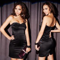 Free Shipping 2013 Sexy Spring Women's dress Fashion Cocktail Party Beading Strapless Full dress