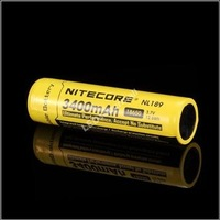 [100% new original authentic] - Nitecore NL189 3400mAh 18650 3.7V 12.6Wh high discharge performance Li-ion Rechargeable Battery