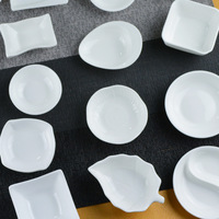 High Grade White bone china tableware west tableware ceramic chili vinegar plate weidie