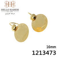 Fashion jewelry 18K gold plated coin earring for women great gift 2pcs/lot free shipping 1213473