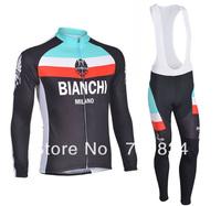 Free Shipping! 1 Set Hot Sale 2013 bianchi Team cycling Jersey/Cycling Clothing/Cycling Wear and Long Bib Pants-bianchi-1D